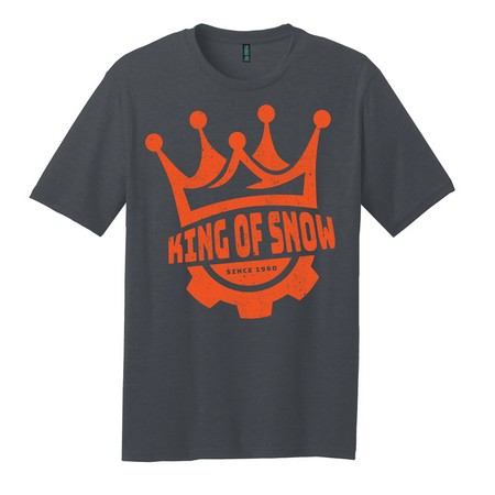 Unisex Crown King of Snow T-Shirt - Charcoal